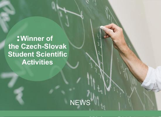 Catholic University in Ružomberok student is the winner of the Czech-Slovak Student Scientific Activities