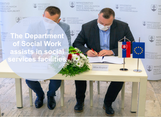 The Department of Social Work, FE CU assists in social services facilities during the pandemic