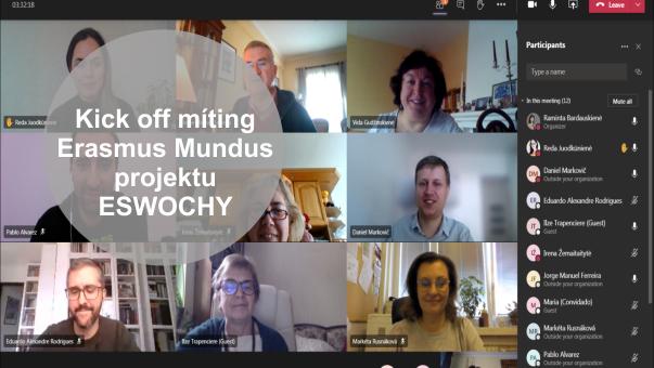 Kick off meeting Erasmus Mundus projektu